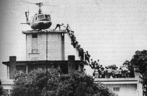 U.S. Embassy and a C.I.A. official's house in Saigon on 29 April 1975