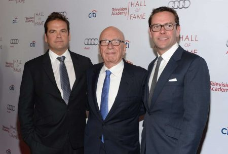 Lachlan, Rupert, and James Murdoch