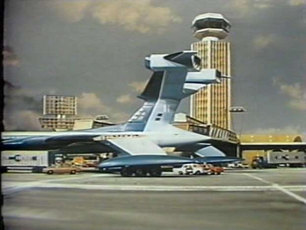 Fig. 1. A futuristic London Airport in Thunderbirds