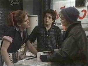 Confrontation in the café.