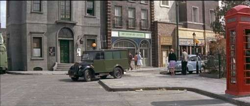 A backlot street in 'The Young Ones'