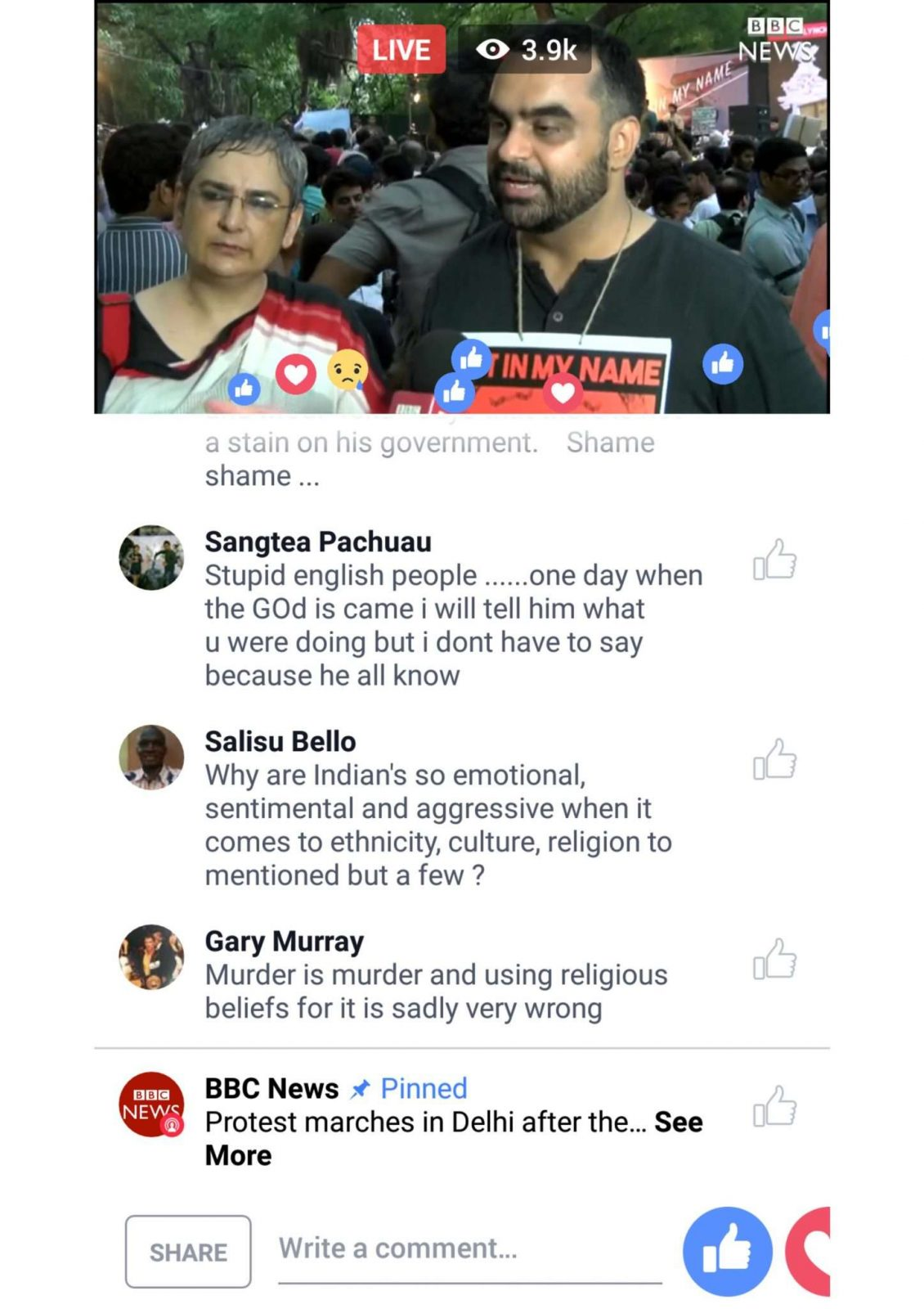 LIVE FROM FACEBOOK… AND THE BBC… AND THE USERS: VIDEO