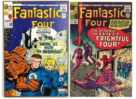 Figures 3 and 4: Fantastic Four comics from the 1960s introducing Medusa and the Inhumans