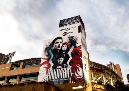 Figure 1: Promotional poster for ABC's Inhumans at SDCC 2017