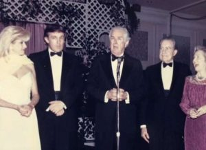 Left to right: Ivana Trump, Donald J. Trump, former Texas governor, John B. Connally, Richard M. Nixon, and Nellie Connally at the March 1989 Juvenile Diabetes Foundation Gala in Houston