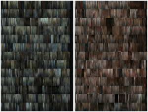 Fig 2. Left: The DNA profile of House of Cards, season one. Right: The DNA profile for Mad Men, season one.
