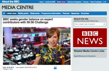 Fig. 1 BBC seeks gender balance