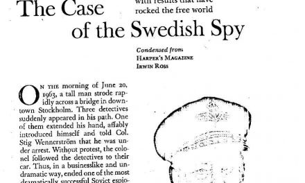 "CfP: Journal of Scandinavian Cinema special issue ""Spies in Scandinavia: Intelligence and counterintelligence in the Nordic countries"". Deadline: June 10, 2018."