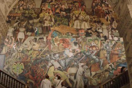 Rivera's mural in The Romanoffs