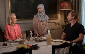 Anushka, Hajar, and Greg from Matthew Weiner's The Romanoffs. (Christopher Raphael / Amazon)