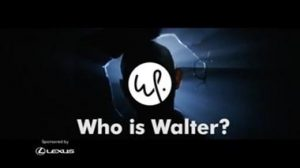 """Who is Walter?"" promotional screenshot for Walter Presents"