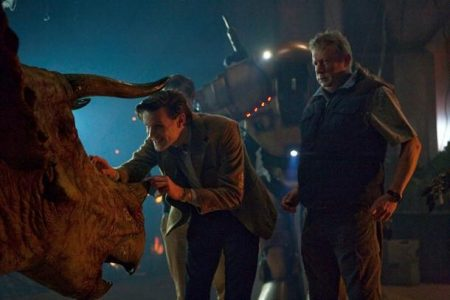 Figure 3: The Doctor and Tricey the Triceratops