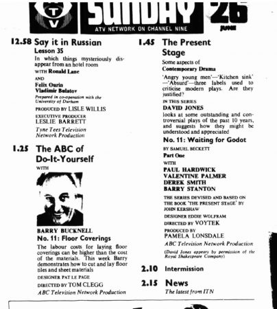 TV Times listing for 26 June 1966