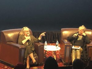 Fig. 3: Val Lehman and Jane Clifton in conversation at 'On the Inside: 40 Years of Prisoner', 2019 St Kilda Film Festival, Melbourne