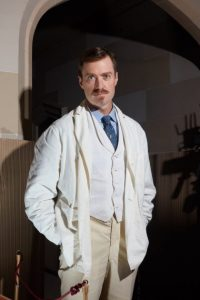 Fig 2: Matthew Crawley as Dr. John Kellogg
