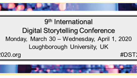 CfP: 9th International Digital Storytelling Conference, March 30 – April 01, 2020 @ Loughborough University (UK). Deadline: Oct 15, 2019.