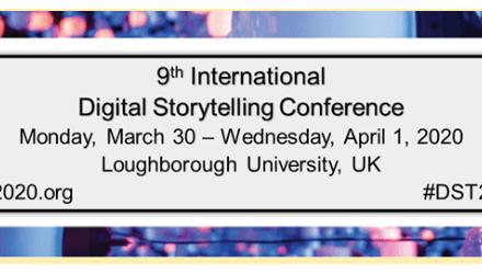 CfP: 9th International Digital Storytelling Conference, March 30 – April 01, 2020 @ Loughborough University (UK). Deadline: Oct 15, 2019.