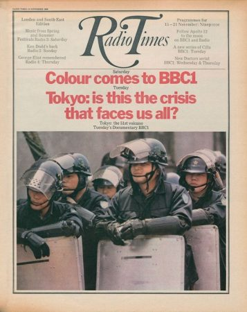 The Radio Times announces the first week of BBC1 colour TV