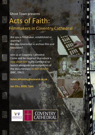 Fig. 5. Advert for filmmaker involvement in Acts of Faith project