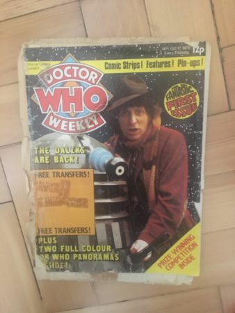 Fig 1: My original copy of Doctor Who Weekly: thus was a terrible beauty born