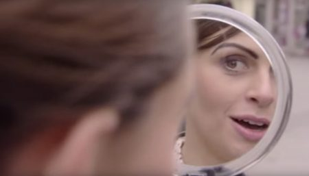 "Fig. 5.2: Presenter Ellie Taylor undergoing a ""make-over"" involving a ""Scouse brow"""